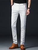 tanie Męskie spodnie i szorty-Męskie Bawełna Typu Chino Spodnie Jendolity kolor