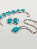 Χαμηλού Κόστους Φορέματα ειδικών περιστάσεων-Γυναικεία Τιρκουάζ Κοσμήματα Σετ - Ρητίνη Etnic, Μοντέρνα Περιλαμβάνω Μπλε Για Πάρτι Βραδινό Πάρτυ / Cercei