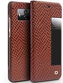 זול פיג'מות וחלוקים לגברים-מגן עבור Huawei Mate 10 pro Mate 10 עמיד בזעזועים עם חלון נפתח-נסגר כיסוי מלא צבע אחיד קשיח עור אמיתי ל Mate 10