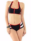 povoljno Bikini i kupaći 2017-Žene Na vezanje oko vrata Red Bikini Kupaći kostimi - Color block Otvorena leđa M L XL