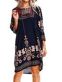 baratos Vestidos de Mulher-Mulheres Para Noite Moda de Rua Evasê Vestido Floral Acima do Joelho