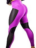 זול שמלות נשים-בגדי ריקוד נשים טלאים מכנסי יוגה - שחור, כחול, פוקסיה ספורט Geometry טייץ רכיבה על אופניים ריצה, כושר וספורט, חדר כושר לבוש אקטיבי נושם, ייבוש מהיר סטרצ'י (נמתח)