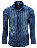 povoljno Muške košulje-Majica Muškarci - Ulični šik Dnevno Prugasti uzorak Print / Dugih rukava
