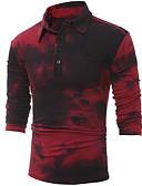 olcso Férfi pólók-Alap Állógallér Vékony Férfi Polo - Színes