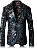 cheap Men's Pants & Shorts-Men's Slim Blazer - Geometric, Print / Long Sleeve
