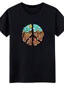 זול חולצות לגברים-גיאומטרי צווארון עגול סגנון רחוב טישרט-בגדי ריקוד גברים