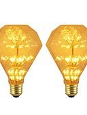 abordables Velos de Boda-BRELONG® 2pcs 3W 300lm E26 / E27 Bombillas LED de Globo 47 Cuentas LED SMD Estrellado Decorativa Amarillo 220-240V