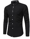 זול טישרטים לגופיות לגברים-אחיד רזה חולצה - בגדי ריקוד גברים צבע טהור / שרוול ארוך