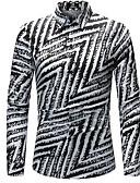 זול חולצות לגברים-פסים פשוט חולצה - בגדי ריקוד גברים סגנון אמנותי / שרוול ארוך