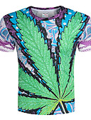 abordables Camisetas y Tops de Hombre-Hombre Camiseta, Escote Redondo Geométrico / Manga Corta