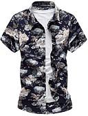 זול טישרטים לגופיות לגברים-פרחוני חולצה - בגדי ריקוד גברים סגנון וינטג' / שרוולים קצרים