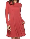 رخيصةأون فساتين طويلة-نسائي أساسي قطن فضفاض بنطلون - لون سادة مطوي أخضر