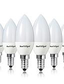 tanie Sukienki-YouOKLight 6 szt. 4 W 400 lm E14 / E12 Żarówki LED świeczki 10 Koraliki LED SMD 5730 Dekoracyjna Ciepła biel / Zimna biel 85-265 V