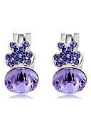 cheap Women's Nightwear-Women's Crystal / Cubic Zirconia Clip Earrings - Crystal, Zircon Butterfly Sweet, Fashion Purple For Party / Evening / Daily