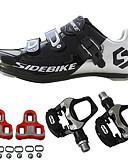 baratos Tops Femininos-BOODUN® Unisexo Tênis / Sapatos para Ciclismo / Tênis para Ciclismo Nailom e Fibra de Carbono Ciclismo / Moto Almofadado, Ultra Leve (UL)
