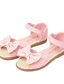 baratos Vestidos para Meninas-Para Meninas Sapatos Courino Verão Sapatos para Daminhas de Honra Sandálias Laço / Velcro para Branco / Rosa claro
