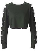 preiswerte Damen Kapuzenpullover & Sweatshirts-Damen Street Schick Pullover Solide