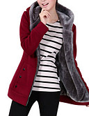 cheap Women's Hoodies & Sweatshirts-Women's Basic Hoodie Jacket - Solid Colored / Winter