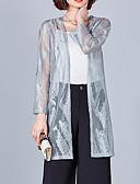 baratos Blusas Femininas-Mulheres Blusa Básico Sólido Gola Boba / Transparente