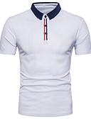 tanie Męskie koszule-T-shirt Męskie Aktywny Bawełna Solidne kolory / Krótki rękaw