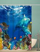 hesapli Elbise Saat-Shower Curtains & Hooks Klasik Polyester Yenilik Makine Yapımı Su Geçirmez Banyo