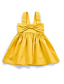 cheap Girls' Clothing-Baby Daily Solid Colored Sleeveless Polyester Dress Yellow 2-3 Years(100cm) / Cute / Toddler