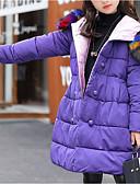 tanie Kurtki i płaszcze dla dziewczynek-Dzieci Dla dziewczynek Solidne kolory Odzież puchowa / pikowana