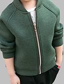 preiswerte Jacken & Mäntel für Jungen-Baby Jungen Aktiv Alltag Solide Langarm Standard Baumwolle Jacke & Mantel Grün