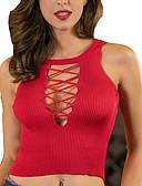 ieftine Tricou-Pentru femei În V Tricou De Bază - Mată / Dantelat