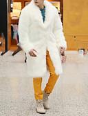 cheap Men's Jackets & Coats-Men's Basic Long Faux Fur Coat - Solid Colored, Basic