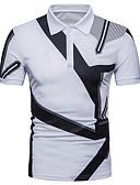 baratos Camisetas & Regatas Masculinas-Homens Camiseta Básico Estampa Colorida
