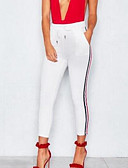זול טייצים-מכנסיים אחיד פסים צ'ינו בסיסי בגדי ריקוד נשים
