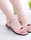 tanie Modne szale i chusty-Dla dziewczynek Obuwie Nubuk Lato Comfort Sandały na Black / Beige / Różowy
