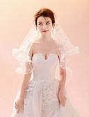 זול הינומות חתונה-שכבה אחת קלסי ונצחי / שיק ומודרני הינומות חתונה צעיפי קתדרלה עם ריקמה טול / קלאסי