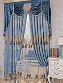 hesapli Gelin Annesi Elbiseleri-Şeffaf Perde Shades Oturma Odası Geometrik Pamuk / Polyester Nakış süslü