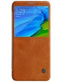baratos Cachecol Feminino-Nillkin Capinha Para Xiaomi Redmi Note 5 Pro com Visor / Flip / Auto Dormir / Despertar Capa Proteção Completa Sólido Rígida PU Leather para Xiaomi Redmi Note 5 Pro
