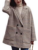 olcso Kabát & Viharkabát-Alap Női Kabát-Tyúklábminta,Túlméretezett