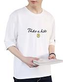 povoljno Muške majice i potkošulje-Majica s rukavima Muškarci - Osnovni Ulični šik Dnevno Jednobojni Slovo Print