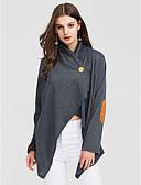tanie Swetry damskie-T-shirt Damskie Moda miejska Bawełna Wyjściowe W serek Luźna - Kolorowy blok