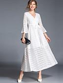 povoljno Ženske haljine-Žene Vintage Ulični šik Flare rukav A kroj Swing kroj Haljina - Čipka, Jednobojni Maxi