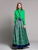 povoljno Ženske haljine-Žene Umjetno krzno Majica - Jednobojni / Cvjetni print Suknja Uski okrugli izrez