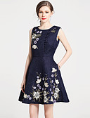 cheap Women's Dresses-SHIHUATANG Women's Vintage Street chic A Line Dress - Floral, Embroidered