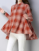 cheap Women's Headpieces-Women's Holiday Street chic / Exaggerated Loose Shirt - Striped Shirt Collar / Spring / Summer