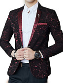 cheap Men's Blazers & Suits-Men's Simple Blazer - Floral