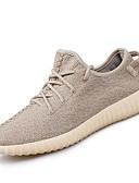 abordables Biquinis y Bañadores para Mujer-Mujer Zapatos Punto / Tul Verano / Otoño Confort Zapatillas de deporte Running Tacón Plano Dedo redondo Negro / Gris / Caqui