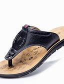 baratos Jaquetas & Casacos para Homens-Homens Sapatos Confortáveis Pele Verão Sandálias Caminhada Preto / Amarelo / Marron