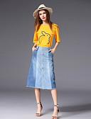 tanie Damska spódnica-Damskie Bawełna Aktywny Wyjściowe Szczupła Zestaw - Rozcięcie / Patchwork, Solidne kolory Spódnica