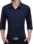 tanie Męskie koszule-Koszula Męskie Szczupła - Jendolity kolor / Długi rękaw