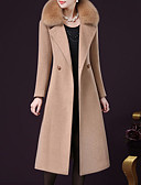 cheap Women's Coats & Trench Coats-Women's Going out Plus Size Coat - Solid Colored