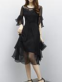 levne Dámské šaty-Dámské Sofistikované Šik ven Flare rukáv Pouzdro Šaty - Jednobarevné Midi